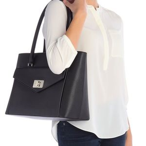 Kate Spade post street halsey leather tote bag